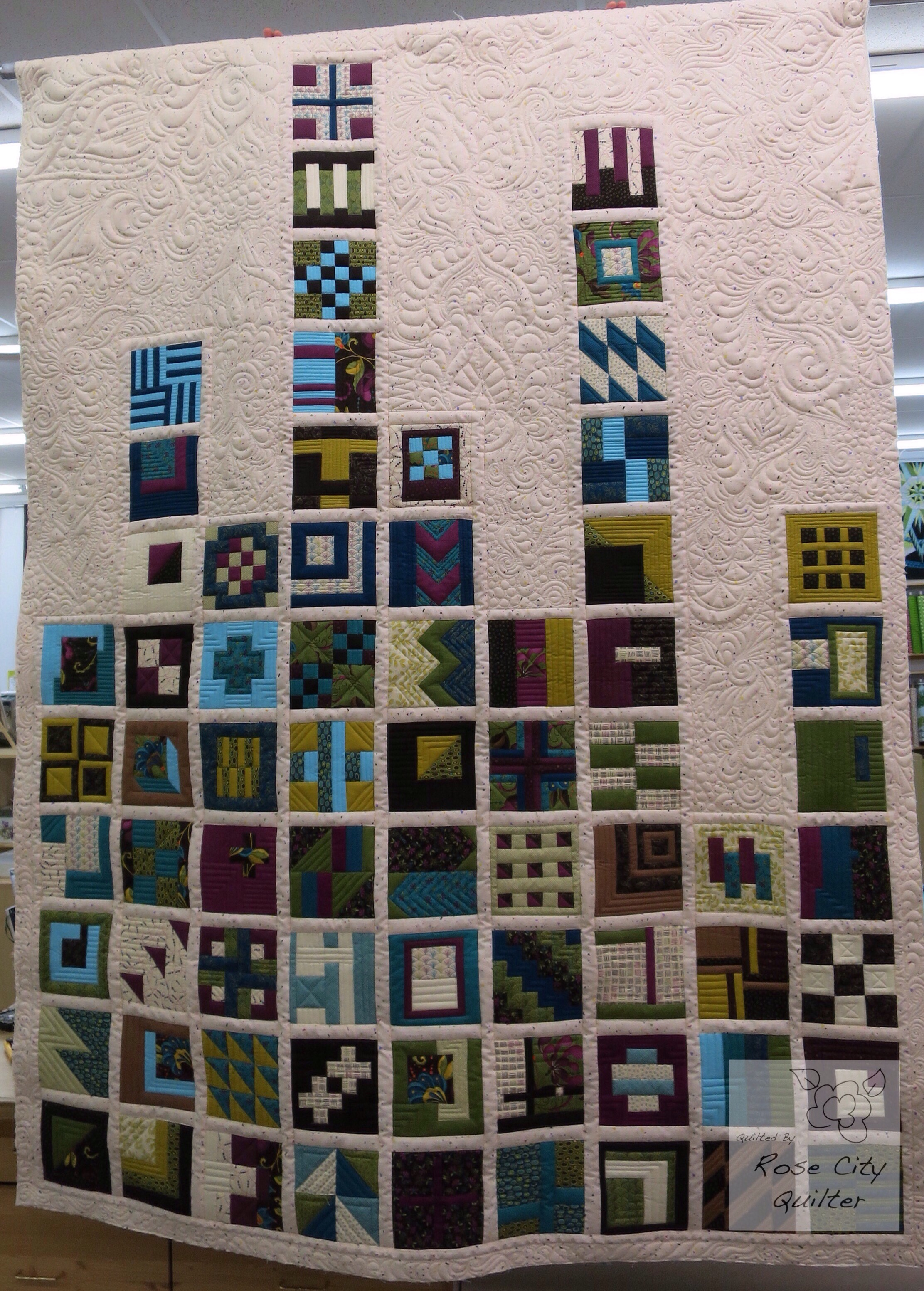 Glenna s modern quilt rose city quilter for Modern house quilt block