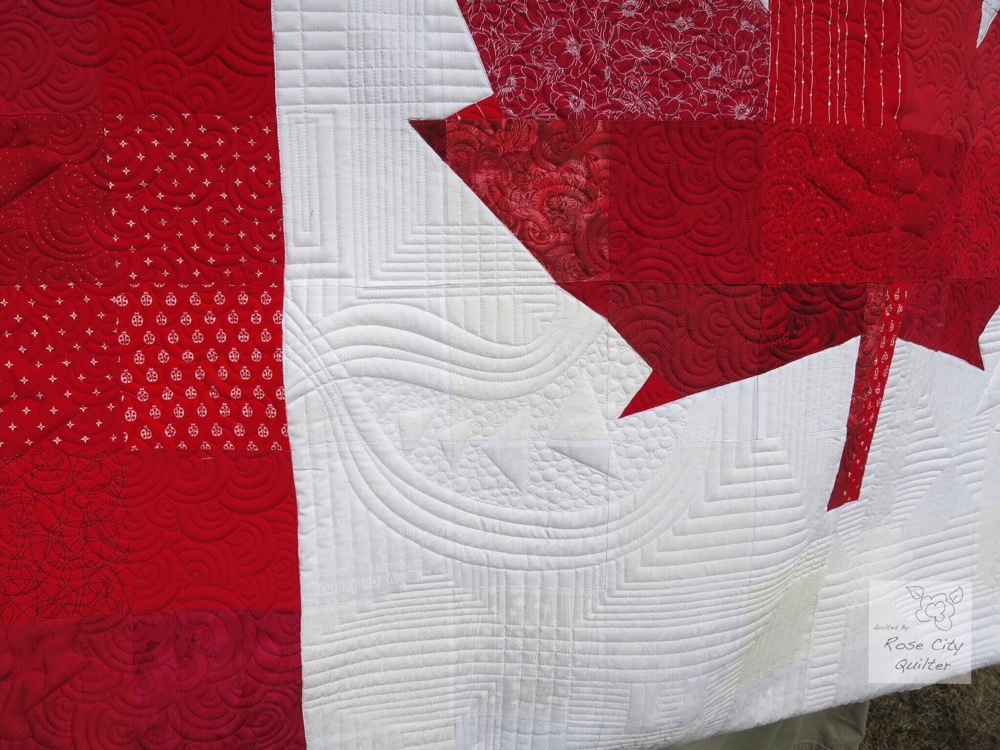 Colleen's Canadian Flag Quilt | Rose City Quilter : canadian flag quilt - Adamdwight.com