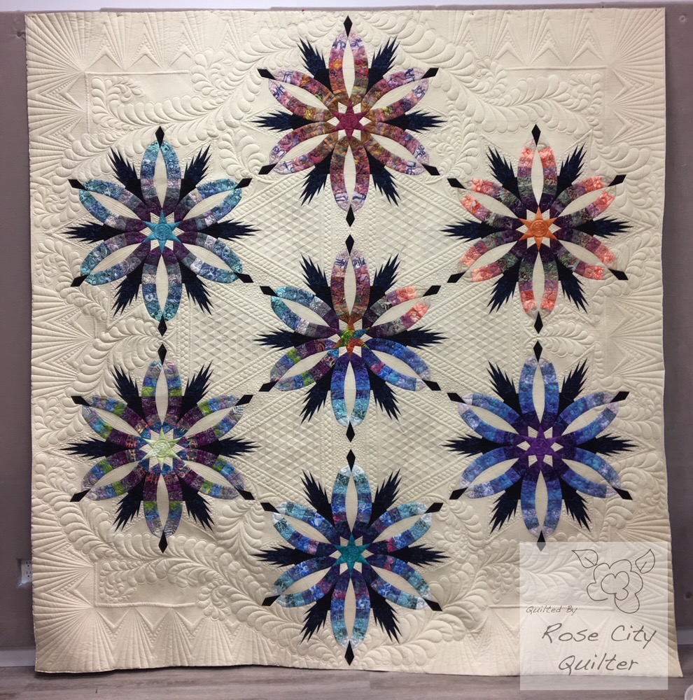 Judy Niemeyer Bali Wedding Star Kit: Roger's Diamond Wedding Star Quilt